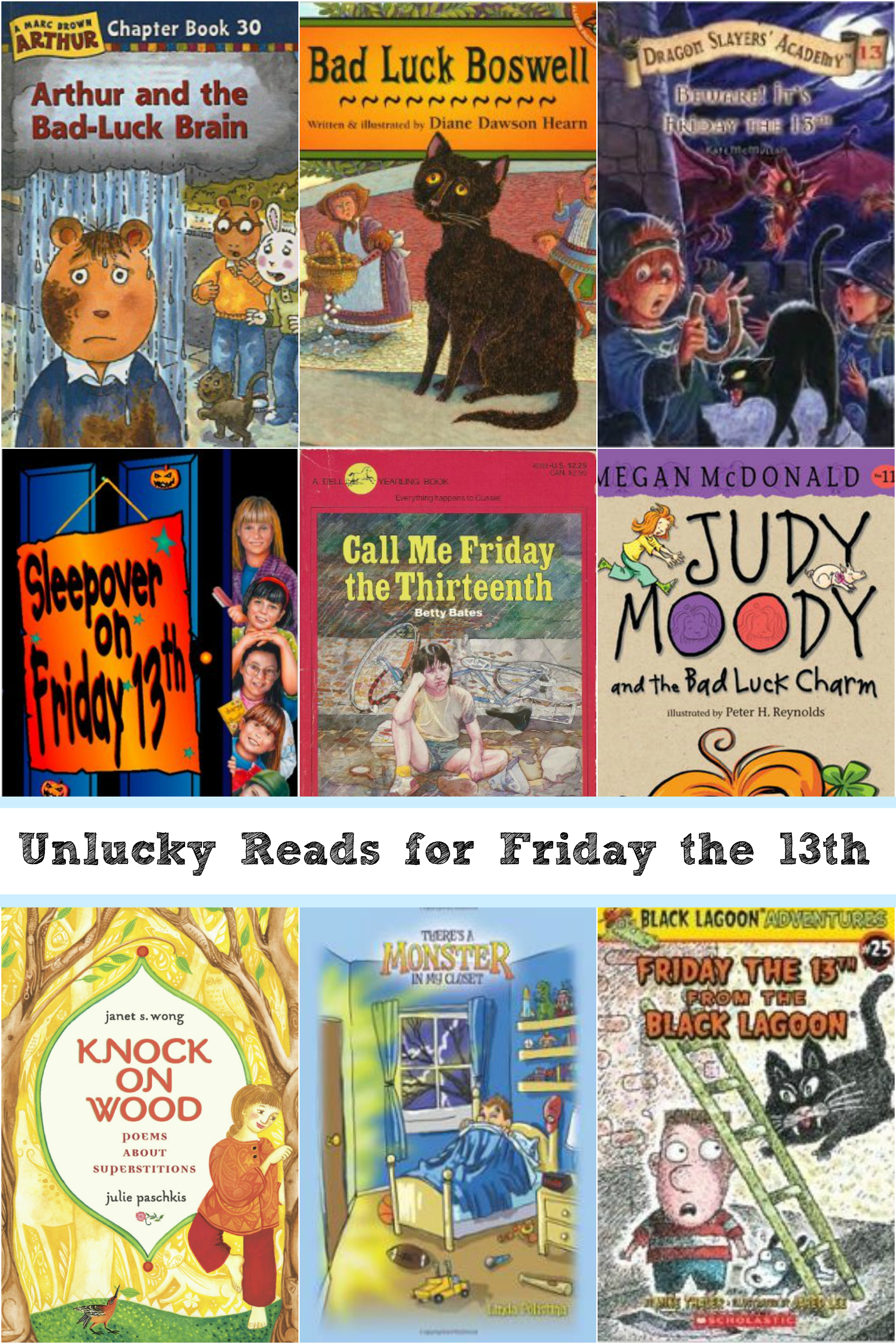Unlucky Reads for Kids on Friday the 13th - Red Apple Reading