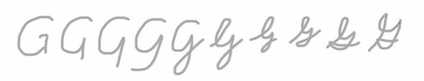 unlocking the cursive G step 1