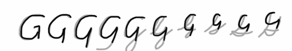 unlocking the cursive G step 2